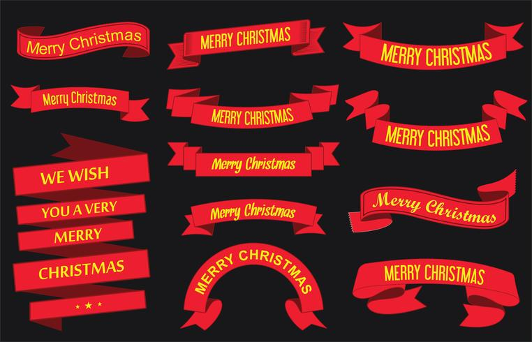 fitas de feliz natal vetor