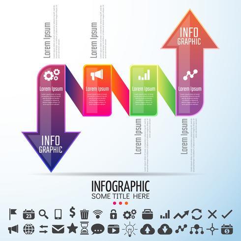 Modelo de design de infografia vetor