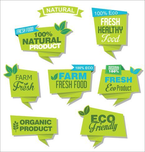 emblema de design ecológico natural vetor