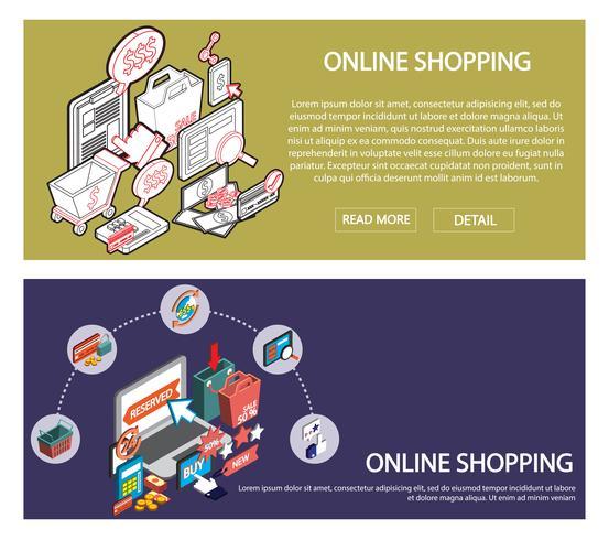 ilustração do conceito de conjunto de compras on-line de informação gráfica vetor