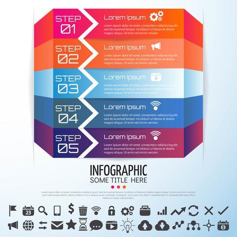 Modelo de design de infográficos de seta vetor