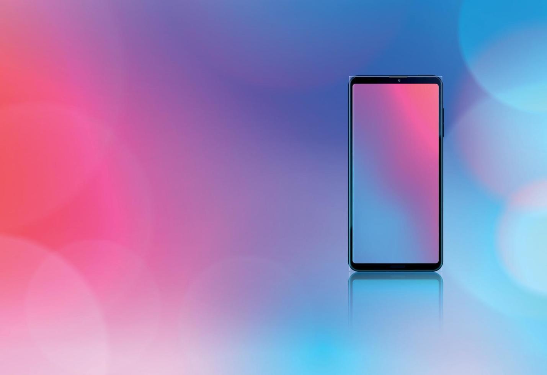 conceito de design realista de maquete de smartphone vetor