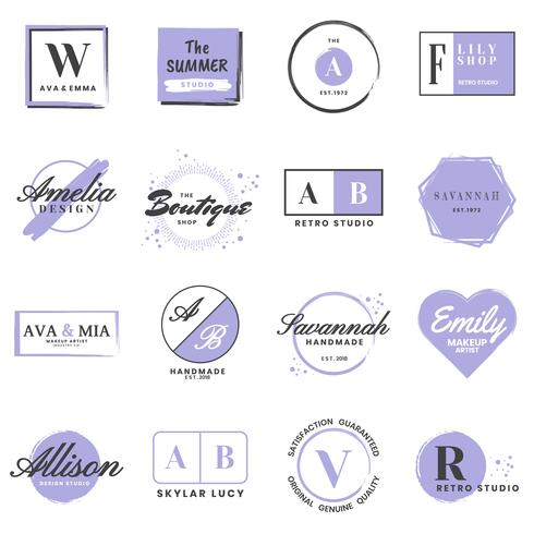 Logotipo de vetor retrô Vintage feminino para banner