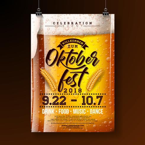 Ilustração de cartaz de festa Oktoberfest vetor