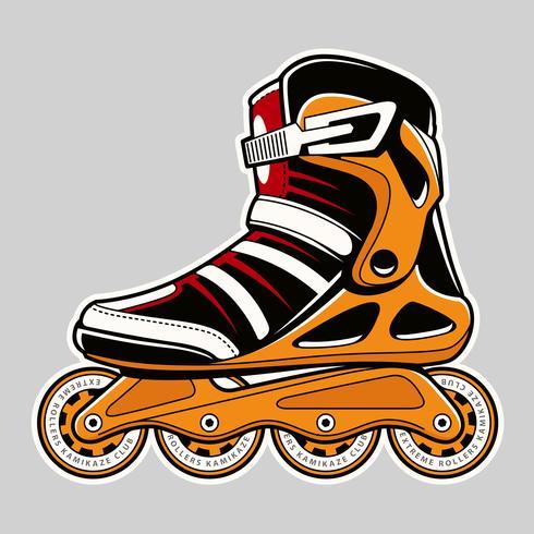 Inline Roller Skate Arte vetorial vetor