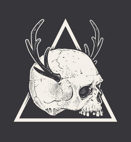 Crânio com chifres vetor
