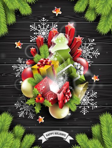 Feliz natal, ilustração vetor
