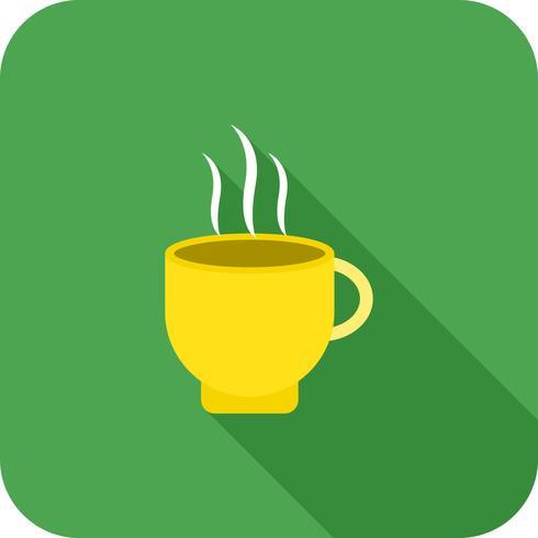 Café canto redondo multi cor longa sombra vetor