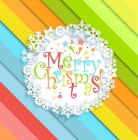 Mensagem de feliz Natal no quadro. vetor