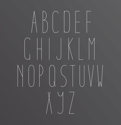 Letras de fontes do alfabeto vetor