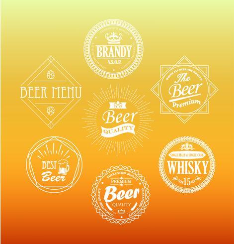 Emblemas de cerveja, vetor. vetor