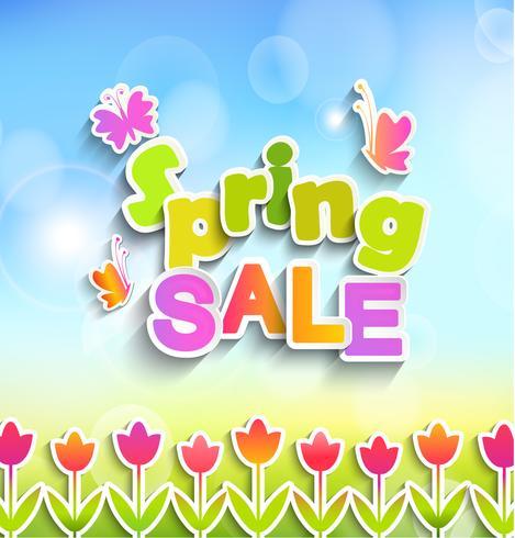Rótulo de venda de primavera. vetor