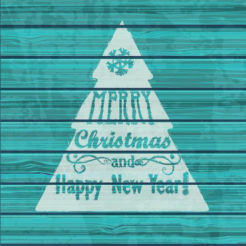 Cartão de Natal. vetor