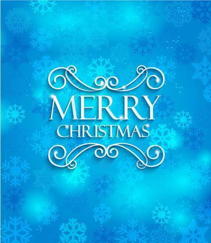 Feliz Natal no fundo azul. vetor