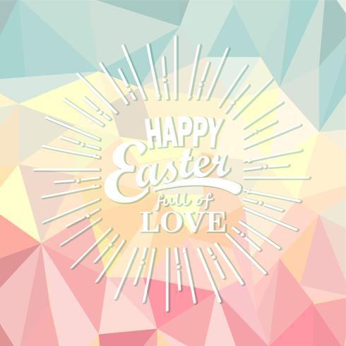 Feliz Páscoa em fundo poligonal. vetor