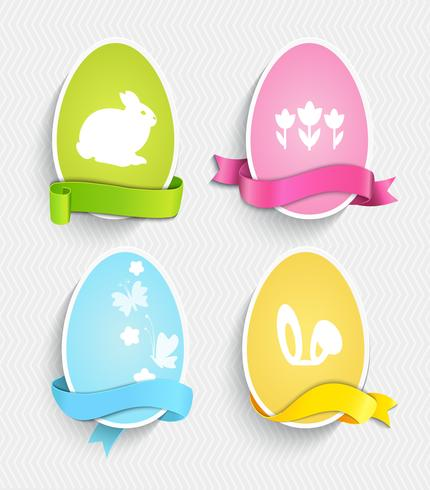 Ovos de Páscoa feliz. vetor