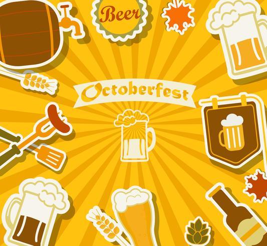 Festival da cerveja - Octoberfest. vetor