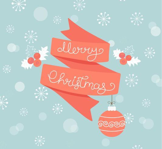 Cartão de Natal com a bola. vetor