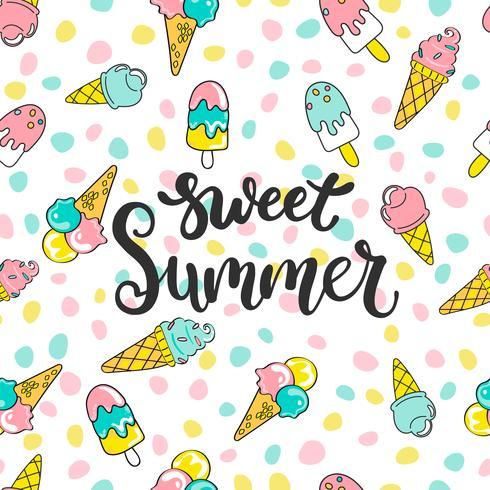 Padrão de verão doce. vetor