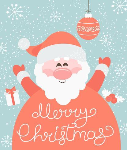 Feliz Natal do Papai Noel. vetor