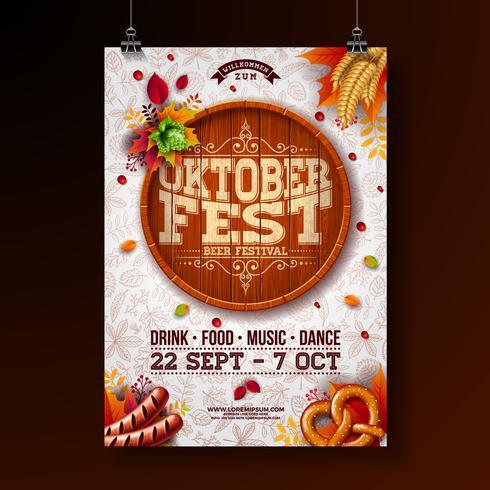 Ilustração do cartaz de Oktoberfest vetor