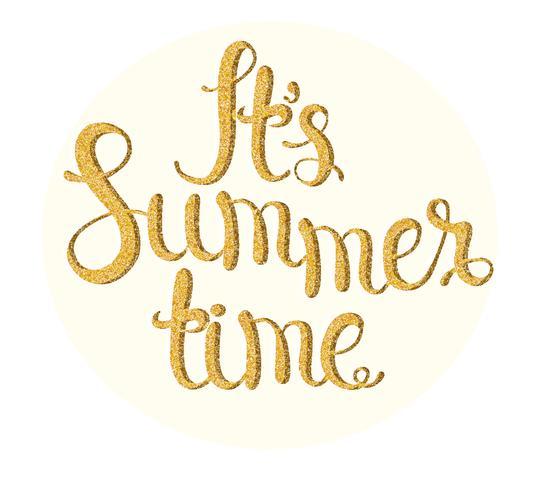 É hora de verão. vetor