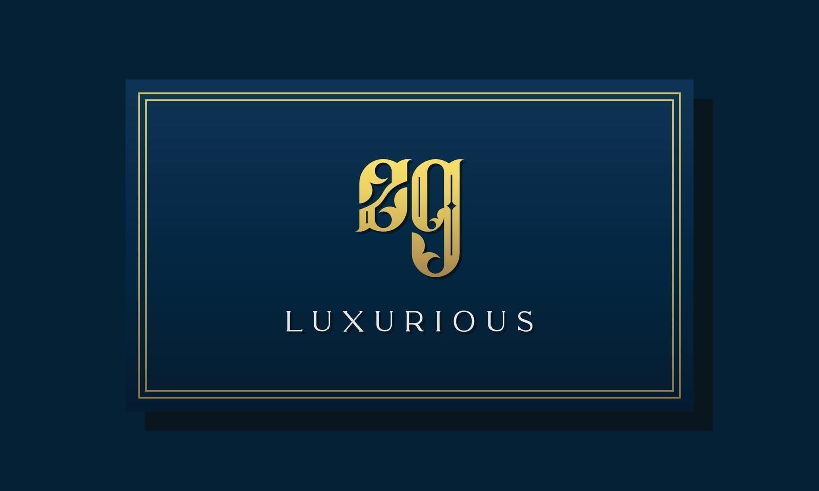 logotipo do zg das letras iniciais reais reais. vetor