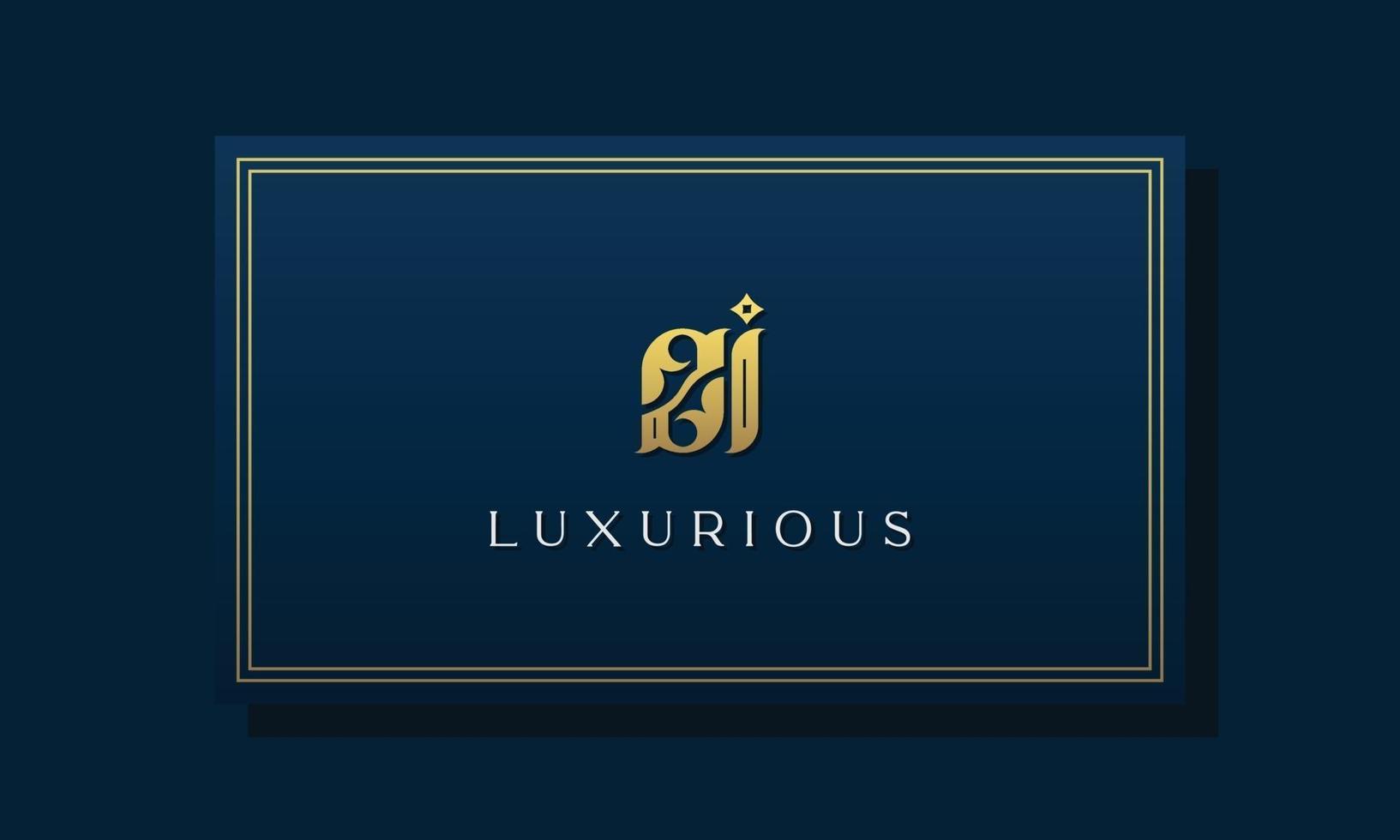 logotipo do zi das letras iniciais reais reais. vetor