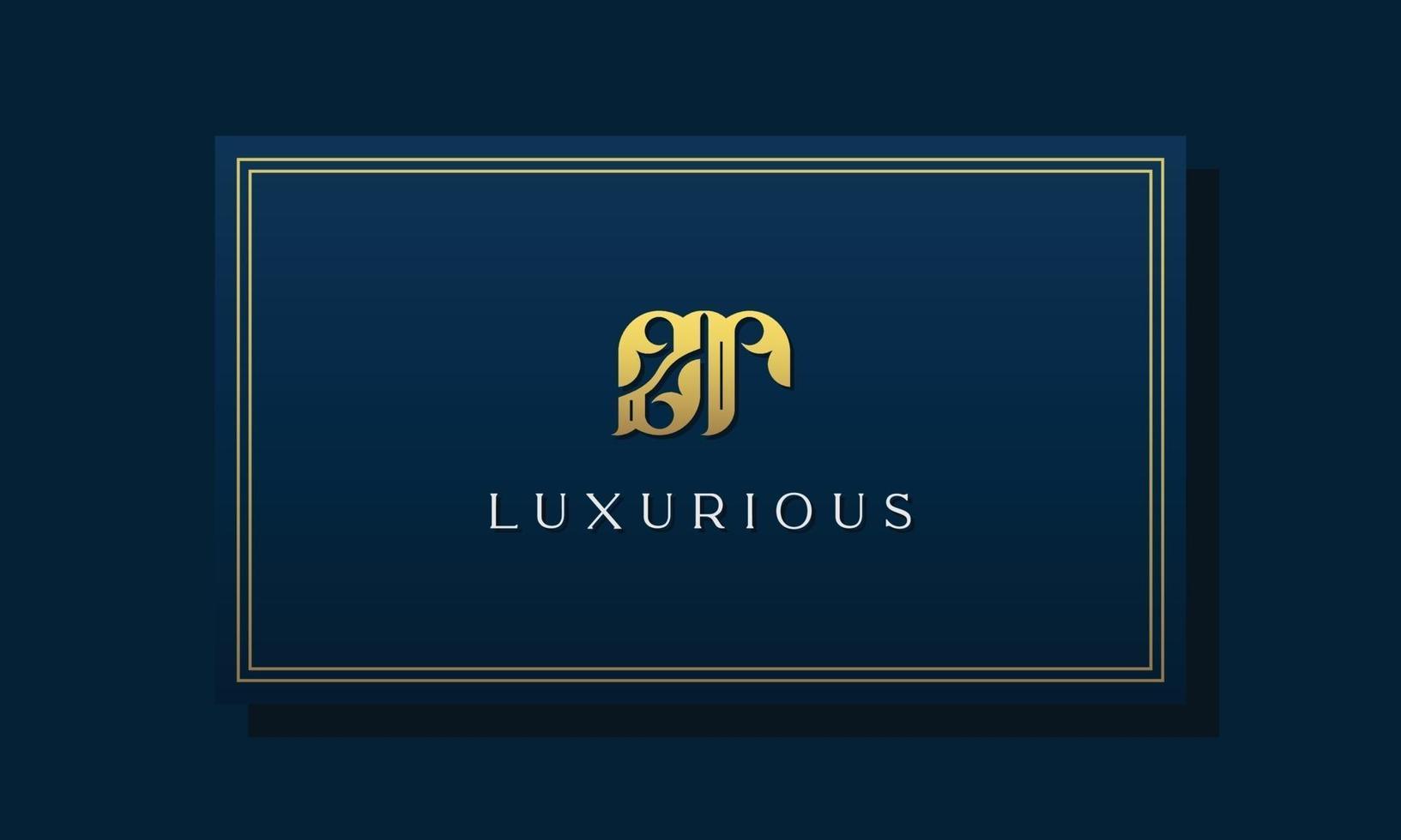 logotipo do zr das letras iniciais reais reais. vetor