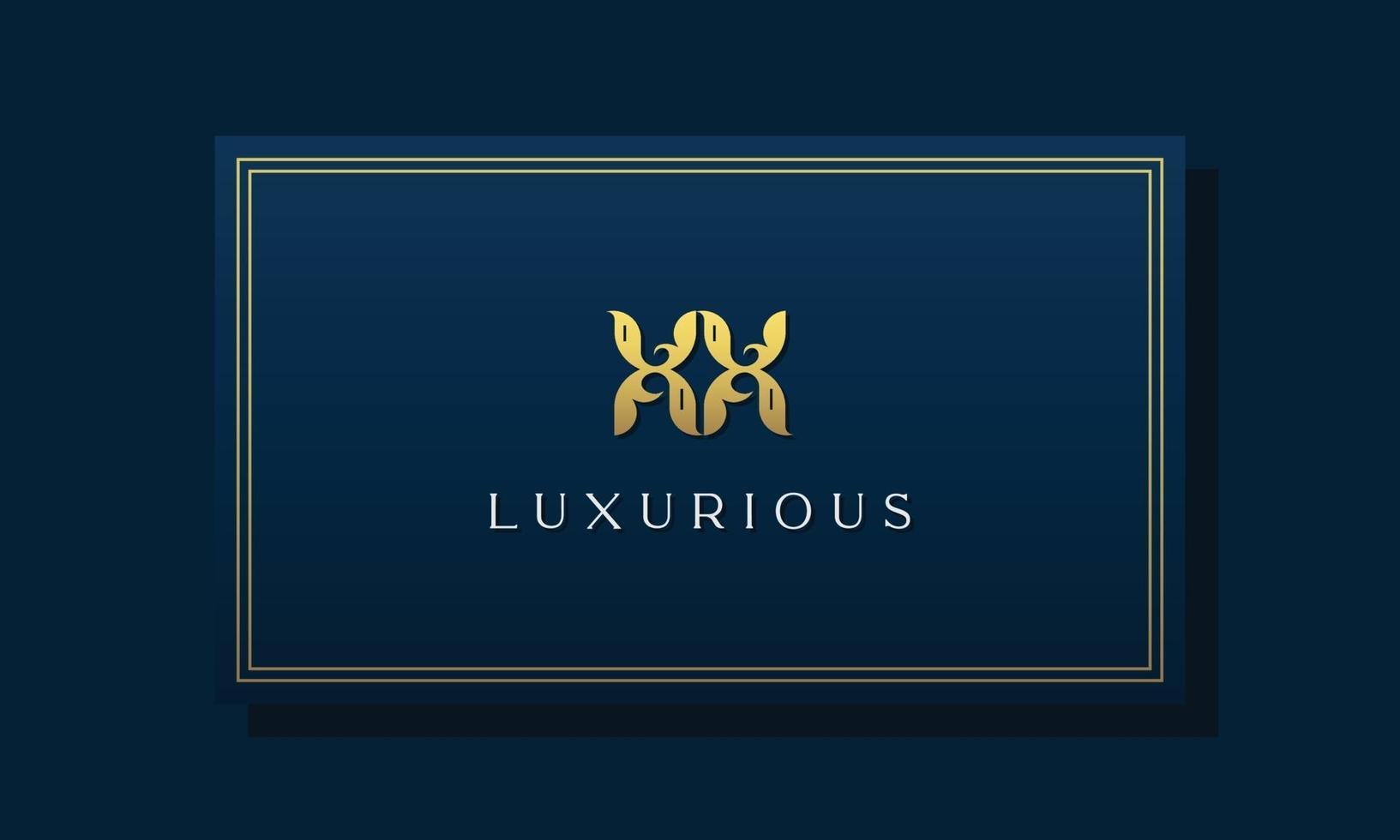 logotipo xx das letras iniciais reais reais do vintage. vetor