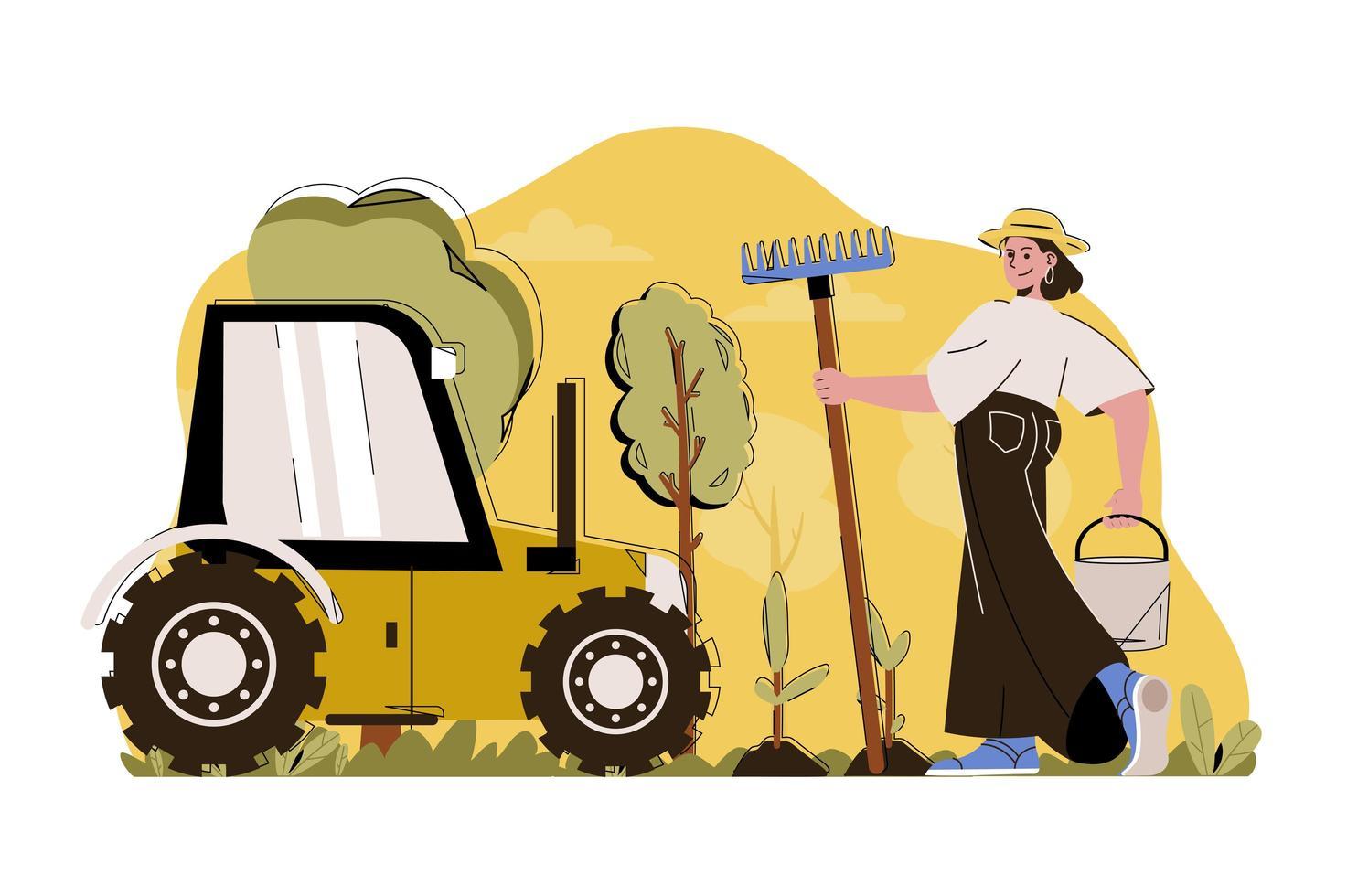 conceito de agricultura avançado para website e site móvel vetor