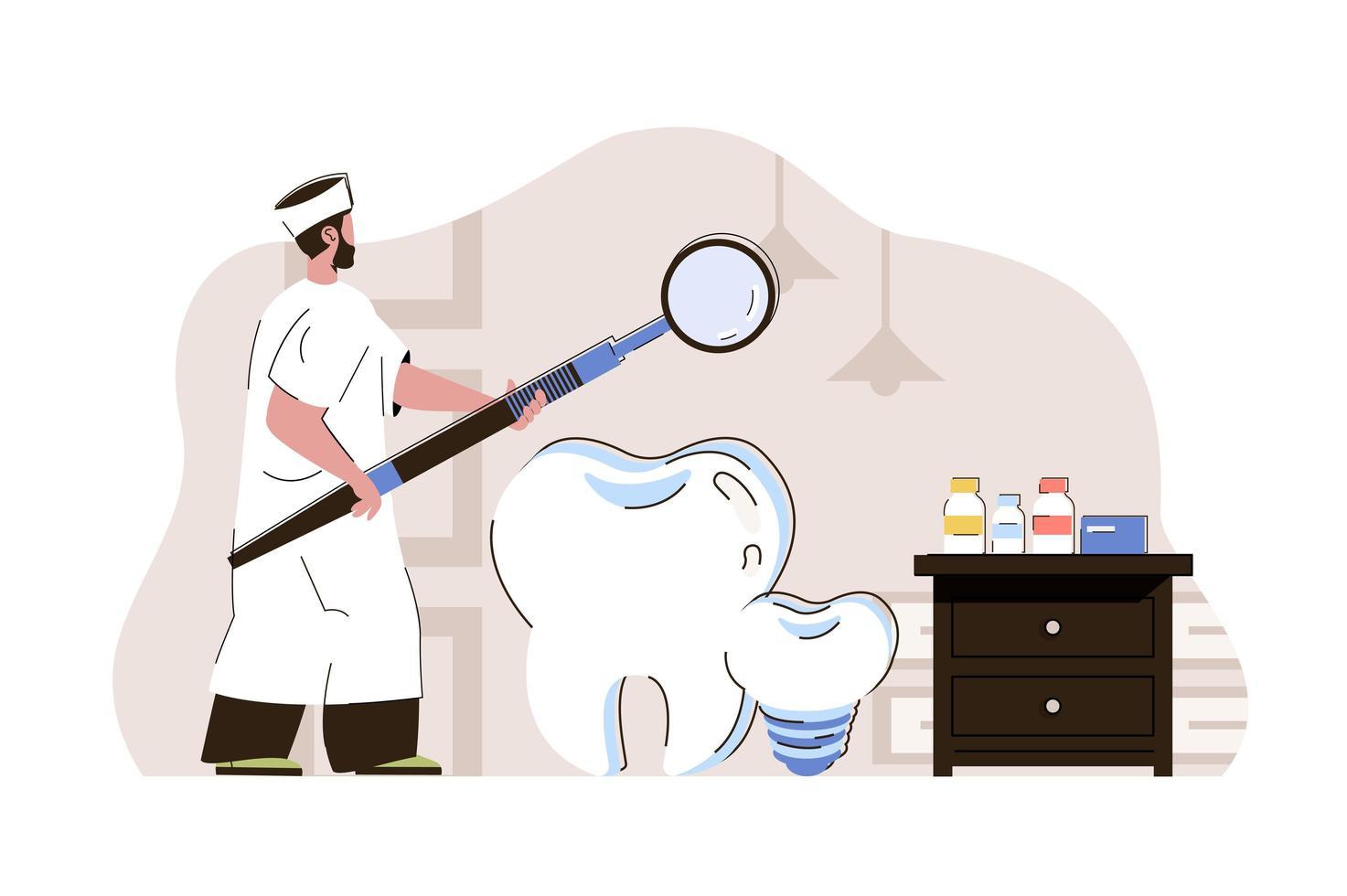 conceito de medicina dentária para website e site móvel vetor