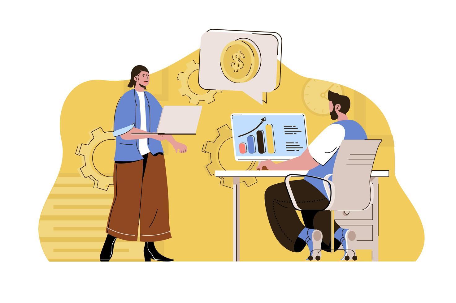 conceito de lucro máximo para site e site móvel vetor