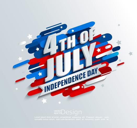 Banner para o dia da independência dos EUA. vetor