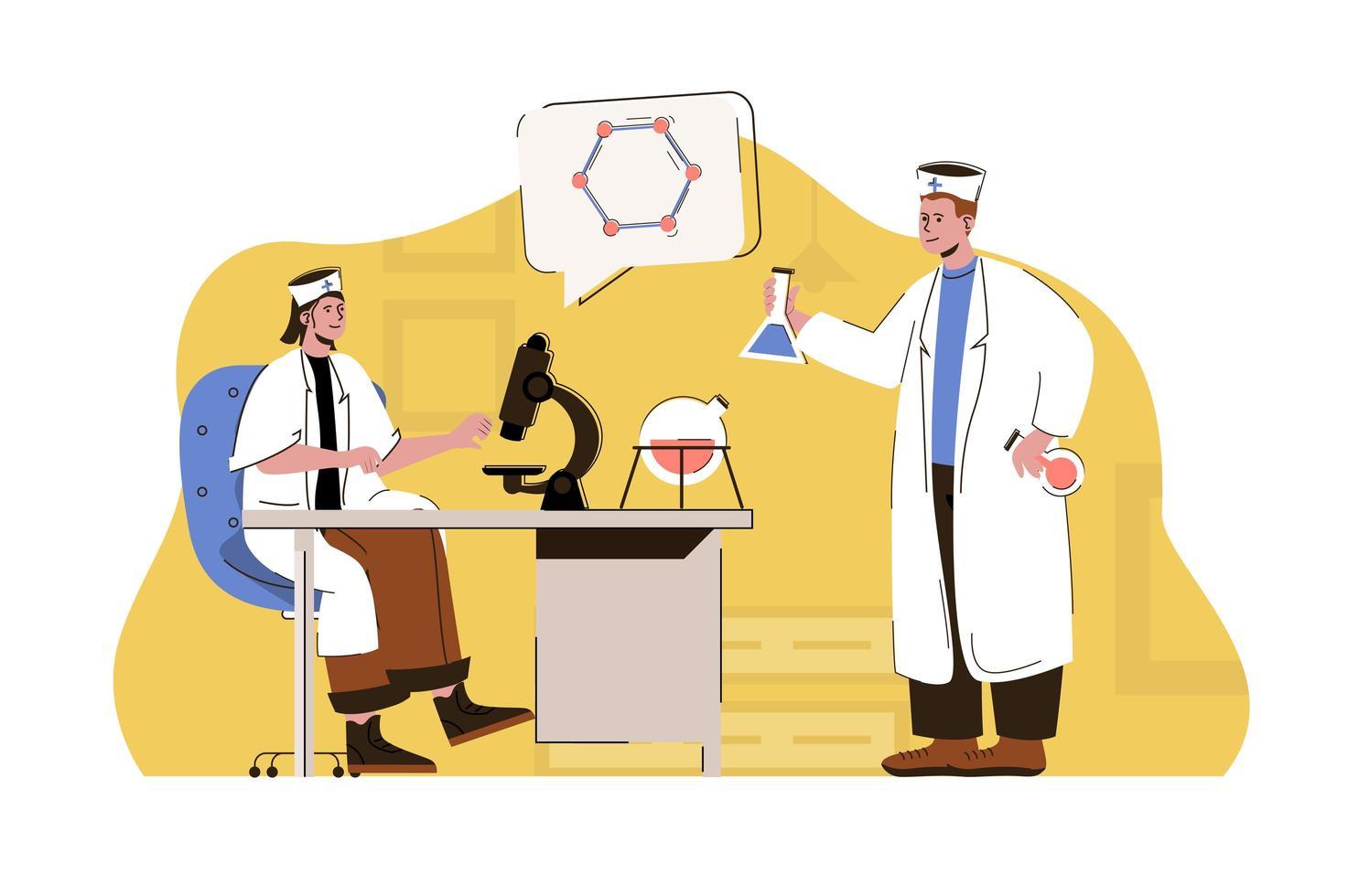 conceito de medicina e ciência para website e site móvel vetor