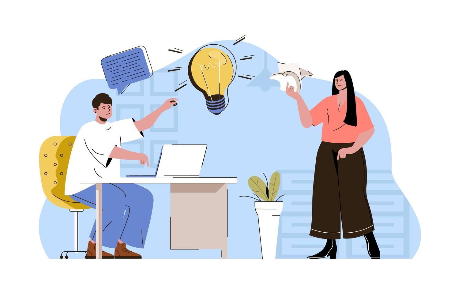 conceito de ideia de negócio para site e site móvel vetor