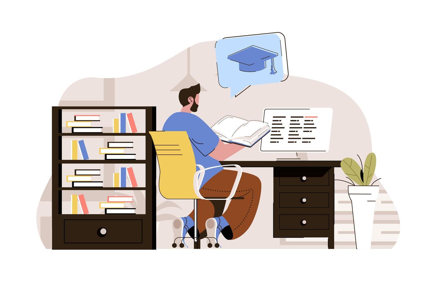 conceito de educação universitária para website e site móvel vetor