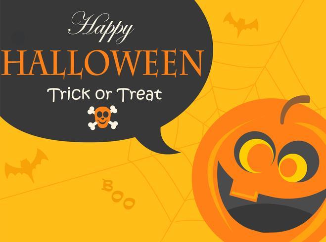 Cartaz para a noite de festa de Halloween. vetor