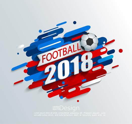 Ilustração do vetor para um copo 2018 do futebol.