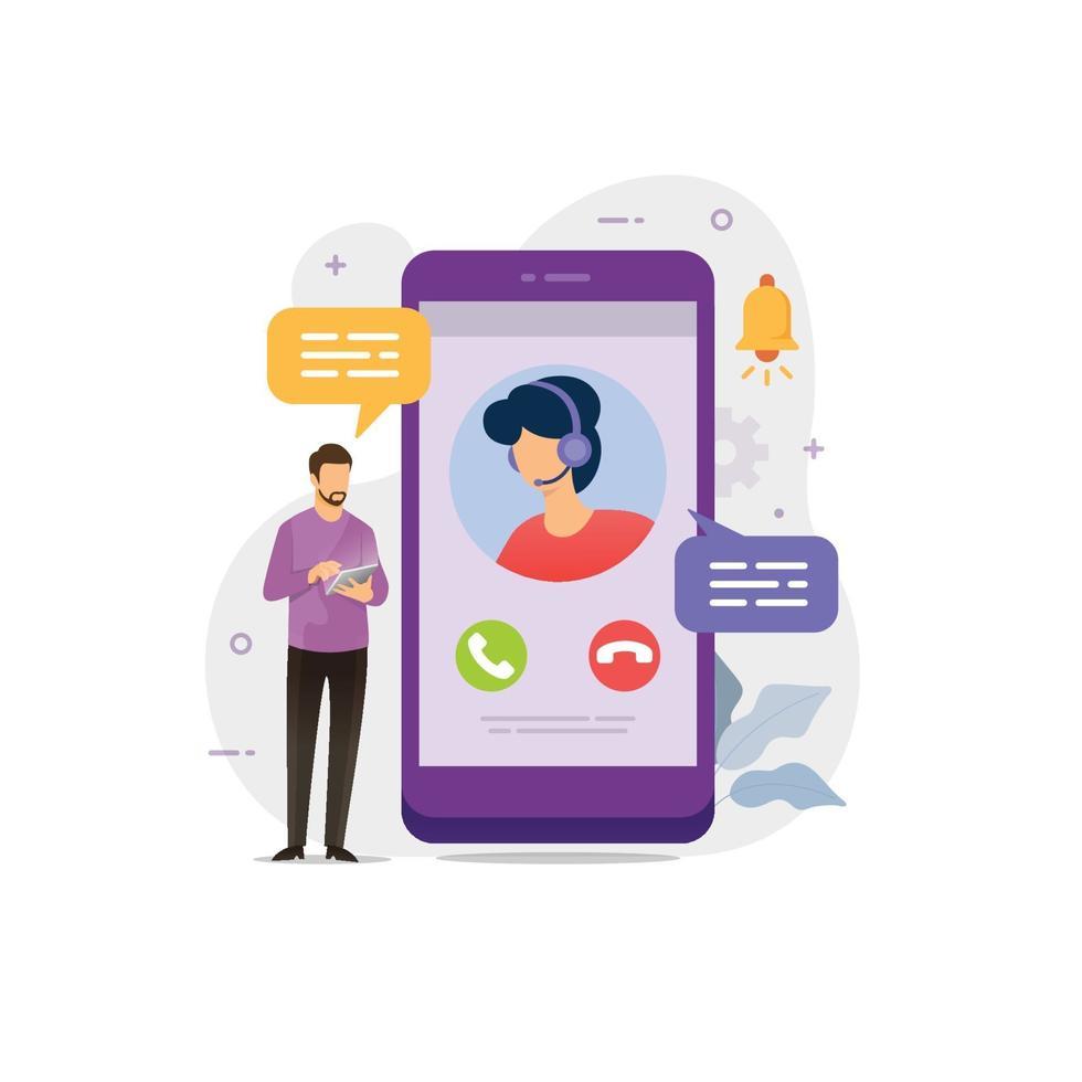 chat ao vivo na conversa de suporte online do messenger vetor