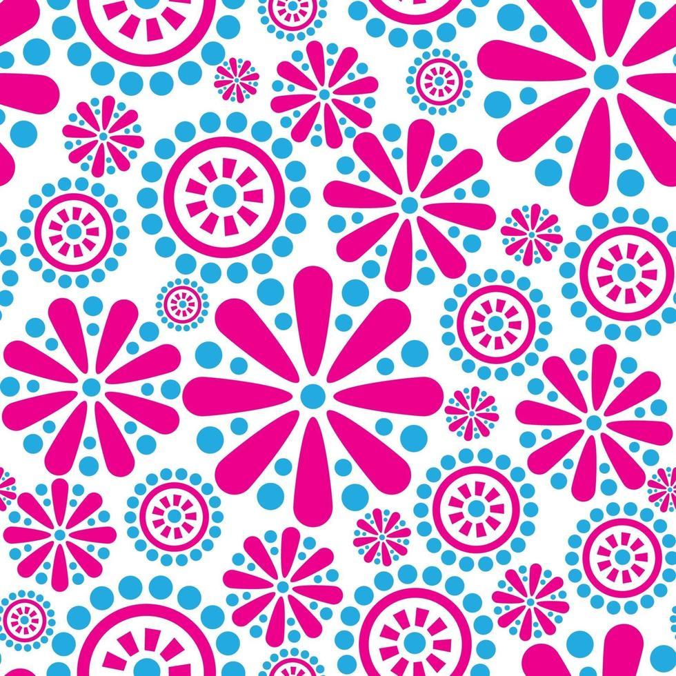 padrão sem emenda de floco de neve feriado de inverno floral fundo flor vetor