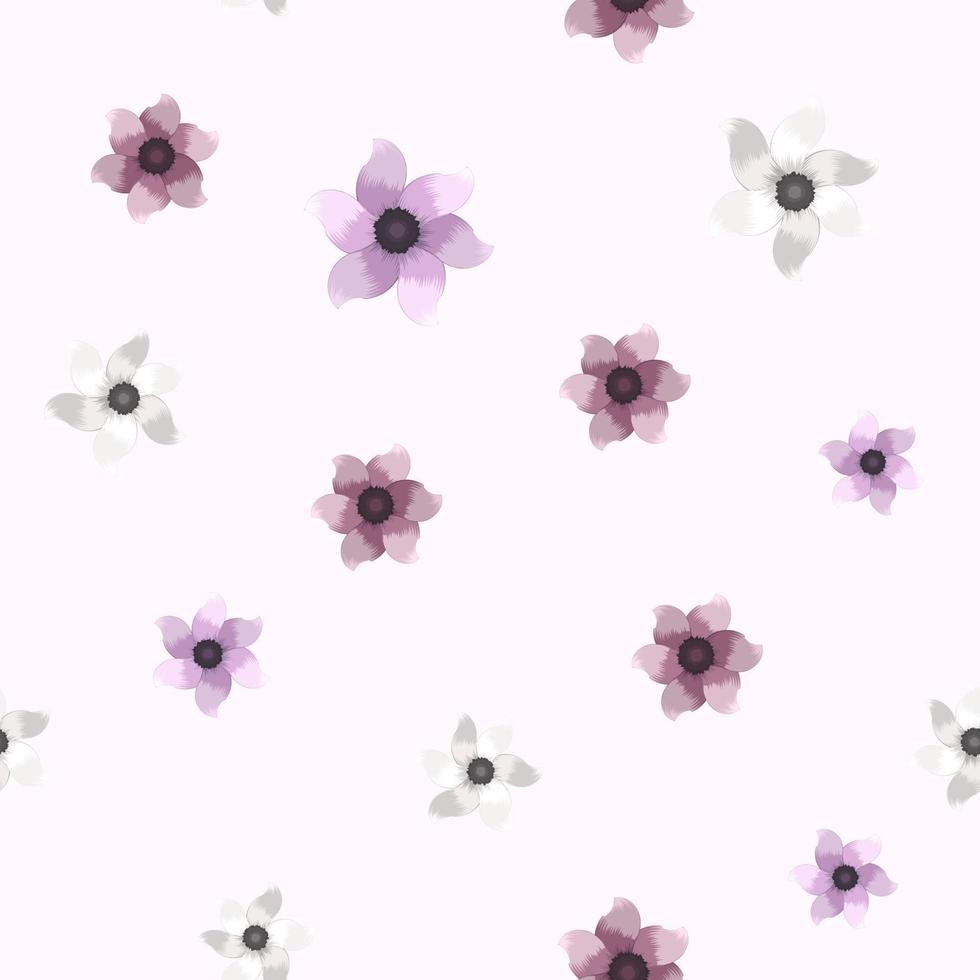 flores sem costura padrão lindo fundo floral roupas moda vetor