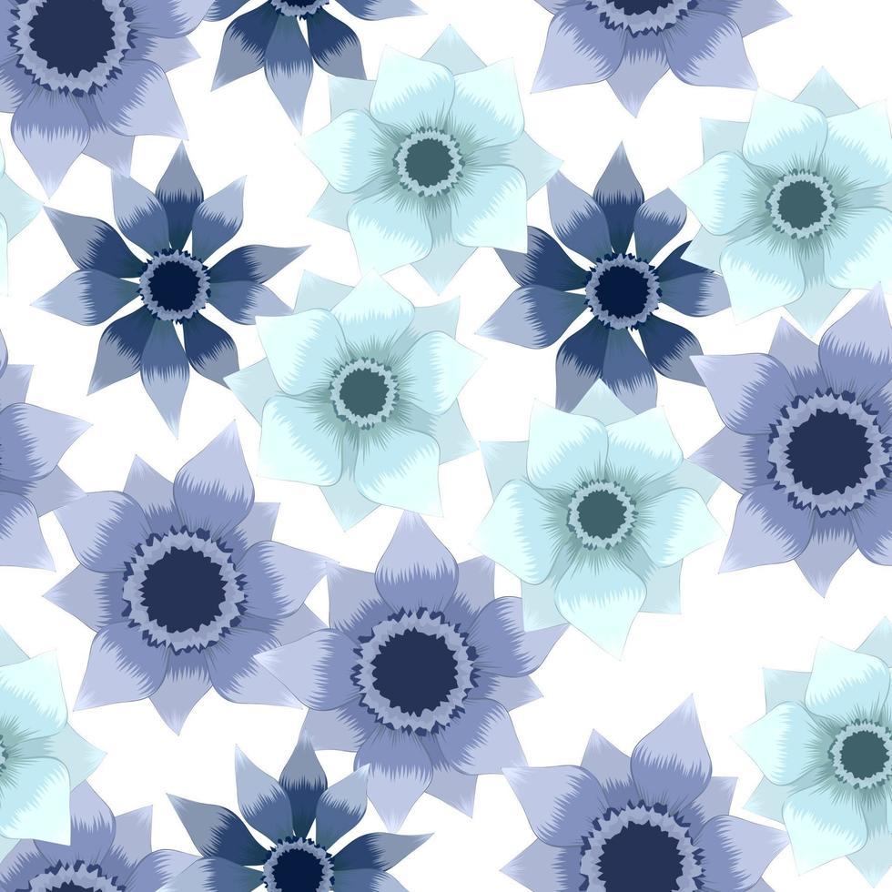 padrão floral sem costura usando folhagem bonita e moderna vetor