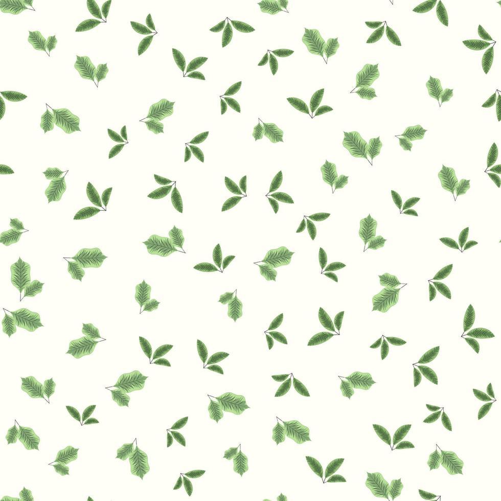 padrão floral sem costura vintage usando folha para impressão vetor