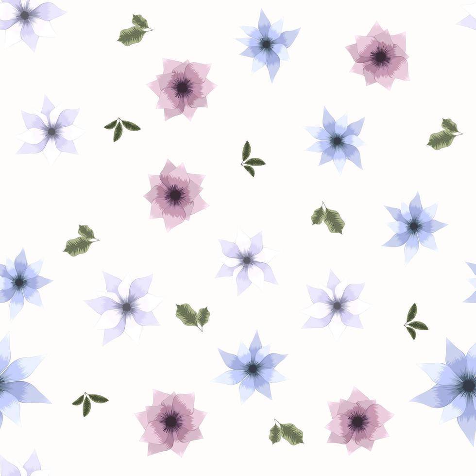 folhas naturais de padrão de vetor sem costura adequadas para impressão em têxteis