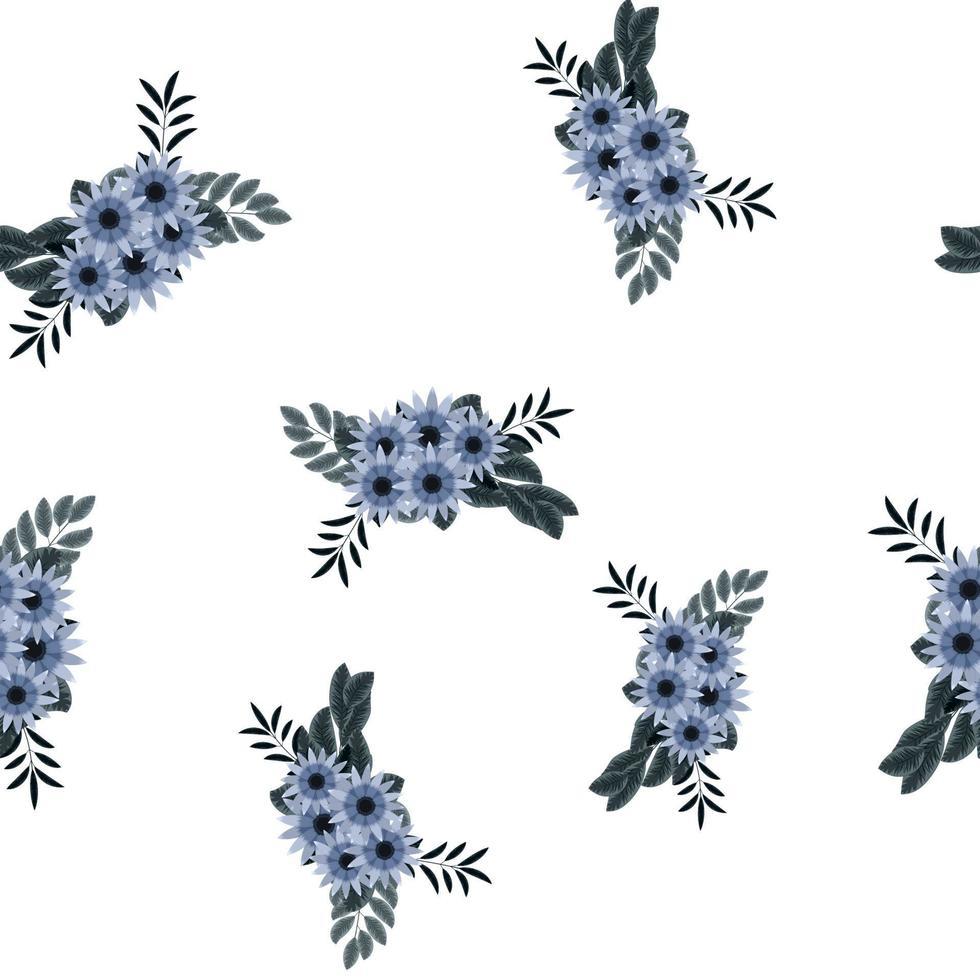 padrão de vetor sem costura cachos florais arranjos de flores papel de parede