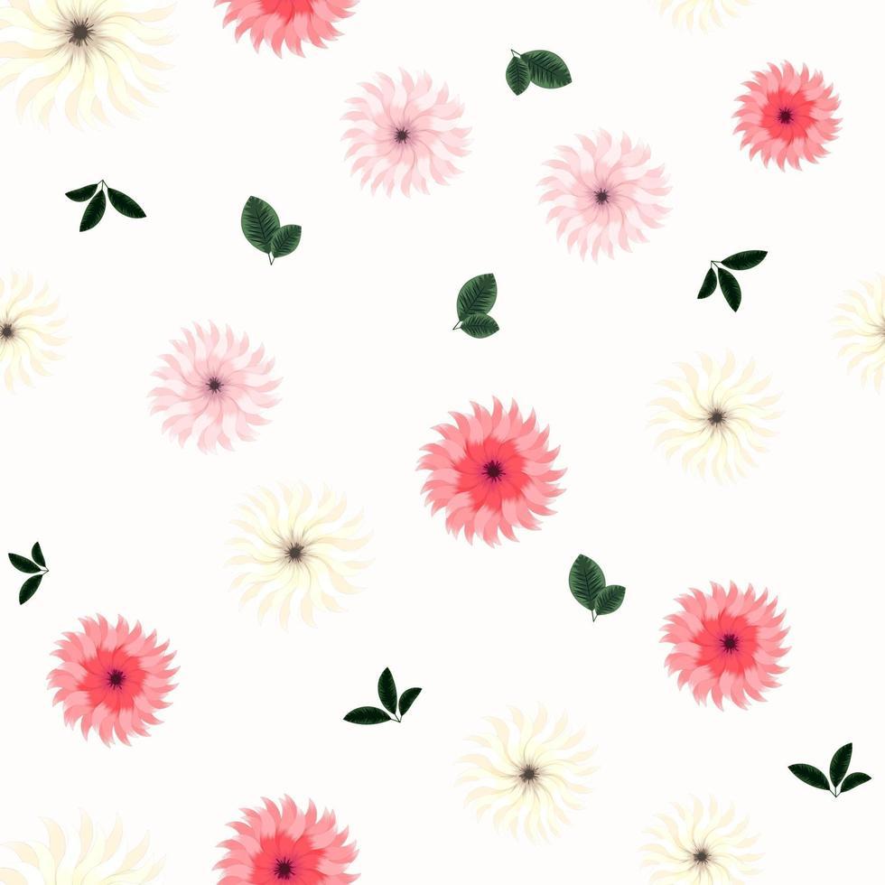 elegante padrão floral sem costura de flores desabrochando vetor