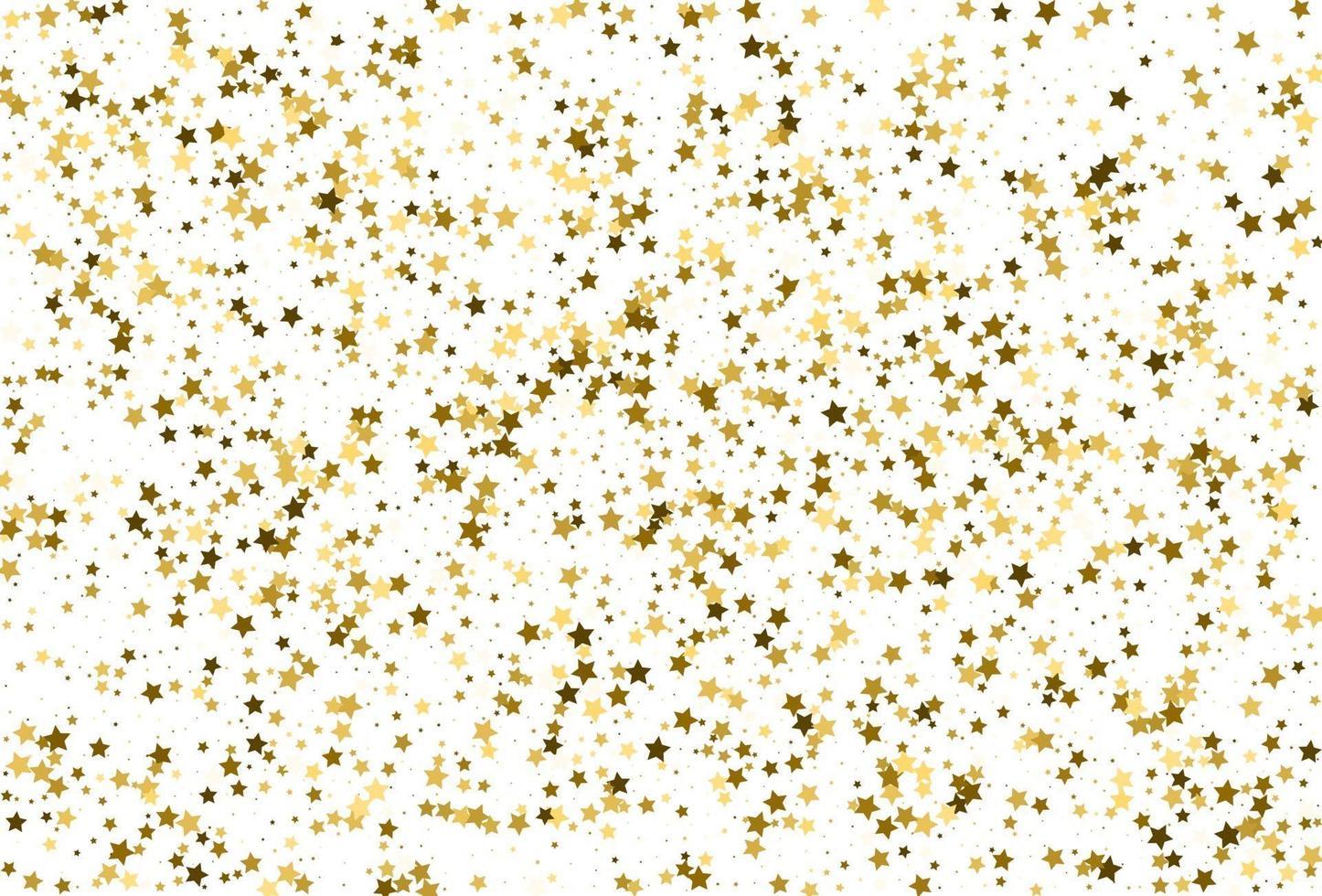 confetes de estrelas douradas. decoração de festa de feriado. vetor