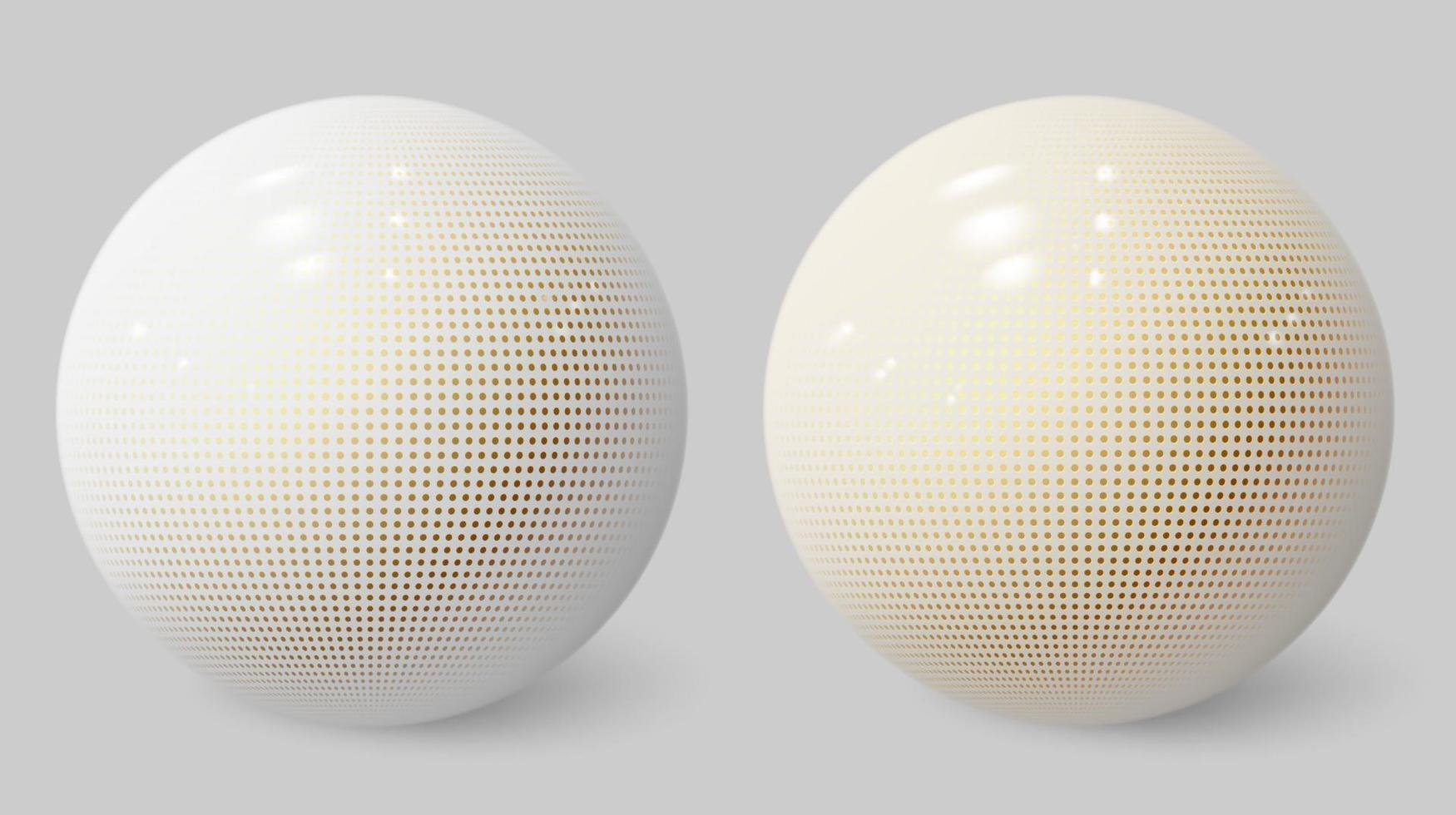 esfera 3d realista. bolha branca. bola texturizada. vetor