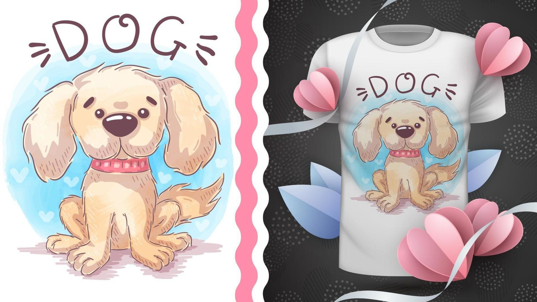 cão animal de personagem de desenho animado vetor
